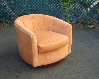 Selig Mid Century Velvet Swivel Chair