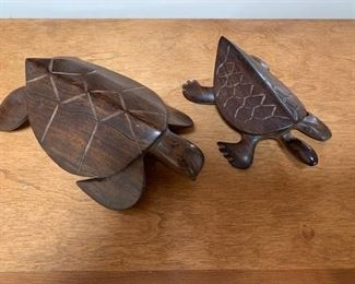 $25/pair Vintage Ironwood Sea Turtles 6'' and 7 1/2''