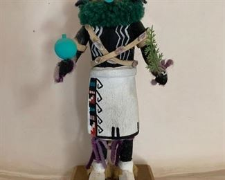 $400 Vintage Kahaila/Hunter Kachina, hand carved and painted cottonwood root,9 1/2'' (purchased from Forest Fenn Gallery)