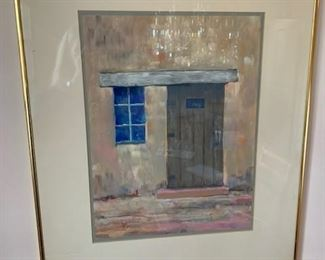 "$195 Paul D. Kinslow 'Dobe Doorway' 1973 pastel 24"" x 20'' framed, 16 x 12'' image"