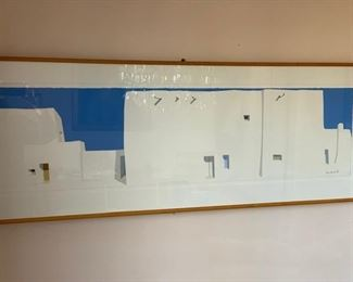 $250 James Harrill (1936-1996)  lithograph 105/220, framed 19'' x 54 3/4'', image 12'' x 48''