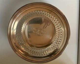$135 Bailey Banks and Biddle 8 1/4'' Sterling pierced bowl, monogrammed, 6.0 t oz