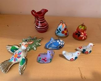 $25/set Vintage Mexican ceramic ornaments