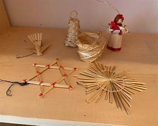 $20/set Vintage straw ornaments