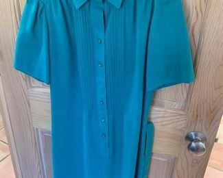 $15 Vintage Schrader Sport Cotton Shirt Dress Size 8