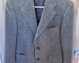 $25 Vintage Austin Hill Womens 80% Wool Grey Blazer (Small)