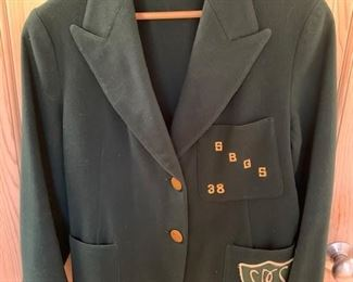 $25 Santa Barbara Girls School Wool Jacket, 1938
