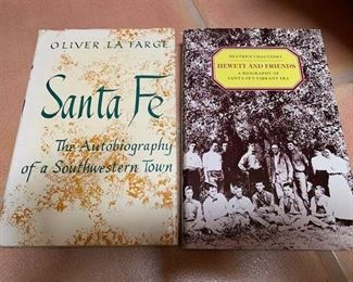 $10 'Santa Fe: The Autobiography of a Southwestern Town',  LaFarge;  $10  'Hewett and Friends', Chauvenet