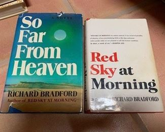 $10 'So Far From Heaven', Bradford 1st ED; $5 'Red Sky at Morning', Bradford signed