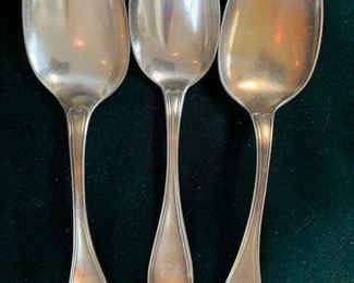 Silver plate Reed and Barton spoons $20