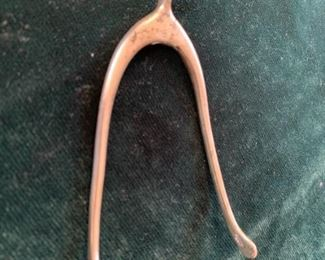 $50 Antique English sterling wishbone sugar tongs