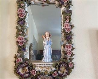 Religious Porcelain Mirror