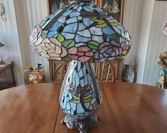 Several Tiffany Style Lamps for Auction