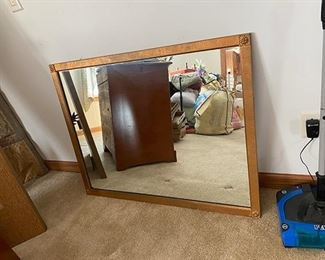 Large wall mirror with gold frame