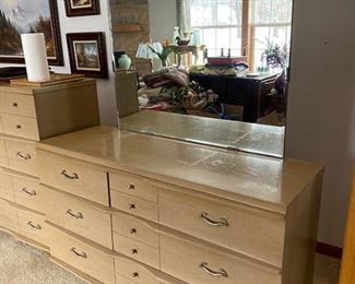 Mid Century Modern Dresser with mirro