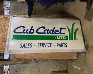 Cub Cadet signs (qty 2)