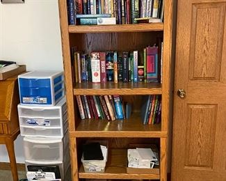 Book case and misc books
