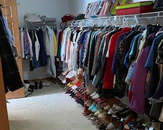 Lots and lots of clothing! If size 7 women's shoes are for you—we have lots of nice ones!