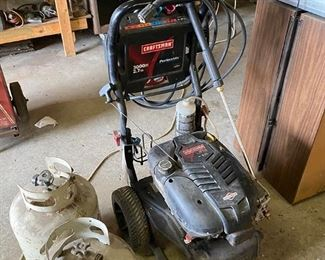Power washer and gas tanks