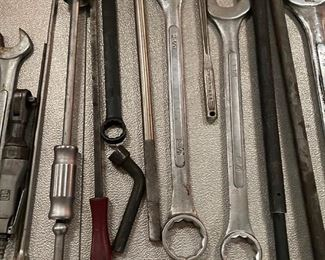 Lots and lots of tools! These are huge wrenches!