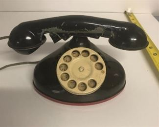 Vintage toy telephone $35