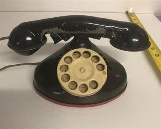 Vintage toy telephone $35