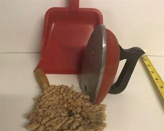 Set of 3 cleaning tools. Metal Iron, Plastic scoop.  $20