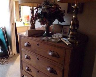 vintage walnut chest