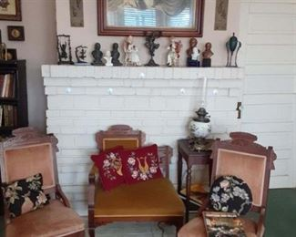 chairs and figurines