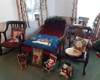 antique chairs and chaise