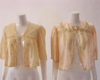 2 - 1930s fancy bed jackets (we have multiple bed jacket lots)