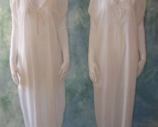 2 Antique white cotton shifts with embroidery (we have multiple similar lots), 1907