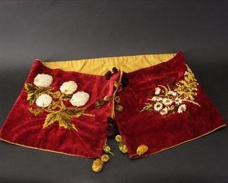 Edwardian velvet stole or shawl