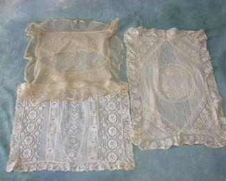 Edwardian-1920 lace boudoir pillow covers
