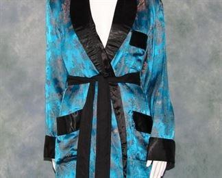 Vintage chinoiserie smoking jacket