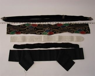 Lot of early antique belts