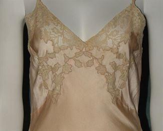 1930s bias cut lavender gown or lingerie slip
