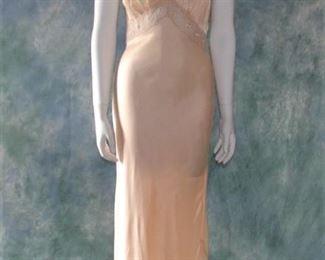 1930s bias cut lavender gown or lingerie