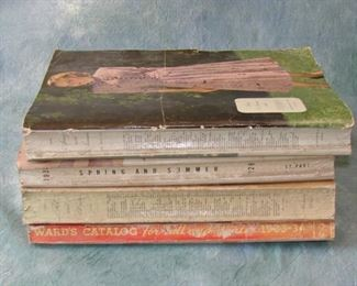 1930s Montgomery Wards catalog lot with for books