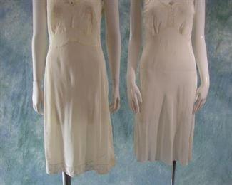 2-1930s lingerie slips or gowns