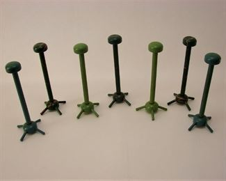 7- 1920s wooden hat stands