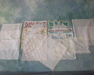 Lot of Vintage fancy handkerchiefs