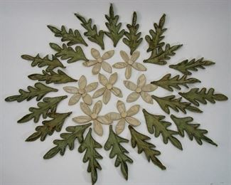 HUGE lot of antique handmade silk appliques for dress, millinery, or crafts, silk flowers and leaves