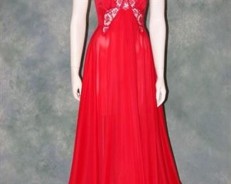 Vintage Olga Bodysilk nightgown with butterfly lace bodice