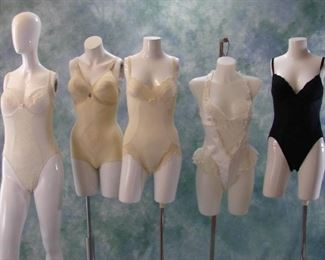 Lot of vintage  one piece shapewear - most open at the bottom