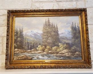 IMPORTANT Large Oil Painting by famous Texas artist W.B. (Dub) Franklin