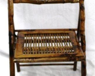 3 - Bamboo Folding Chair 17 x 35 x 15