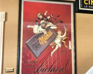 Italian framed posters 53x36, vintage poster, reproduction, framed beautifully
