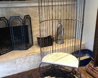 Unique birdcage chair