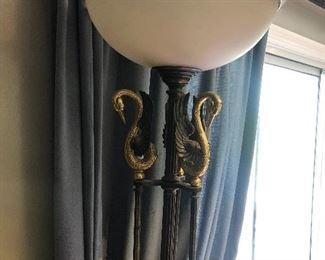 Vintage torchiere lamp
